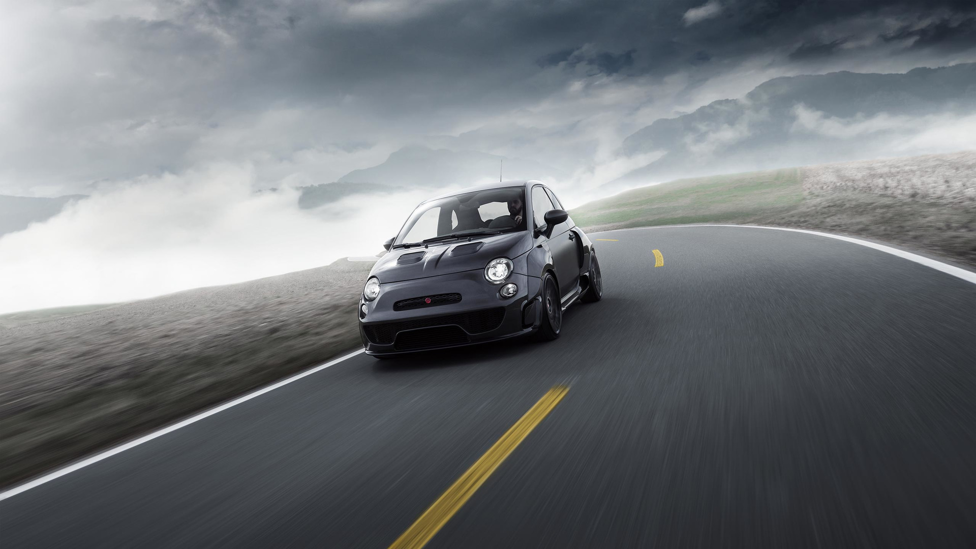 Pogea Racing S Fiat 500 Abarth Packs 405 Hp Into Carbon Fiber Widebody