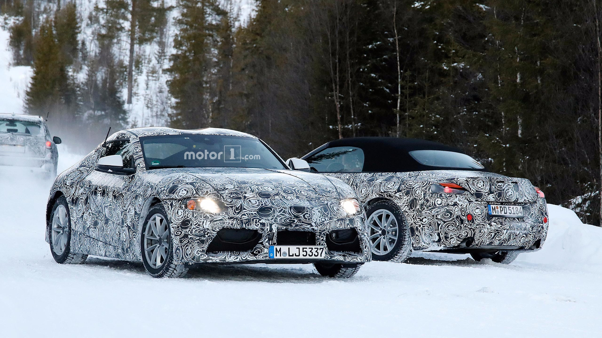 Future Toyota Supra And Bmw Z5 Spied Together In The Snow