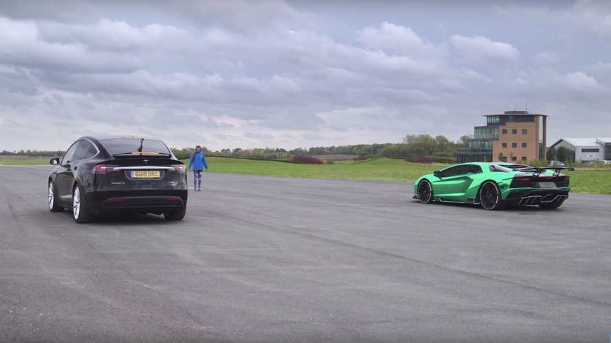 Can Tesla Model X Beat Lamborghini Aventador S On A Drag Strip?