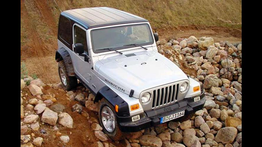Jeep Wrangler Rubicon (2003) im Test: Offroad-Akrobatik mit dem Geländewagen