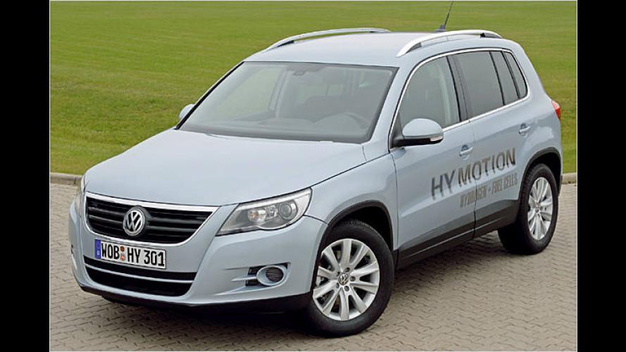 VW Tiguan HyMotion: Umweltfreundliche Drucksache