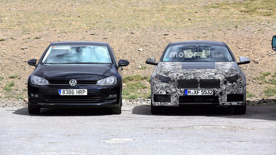 BMW 1 Series Spy Photos With VW Golf