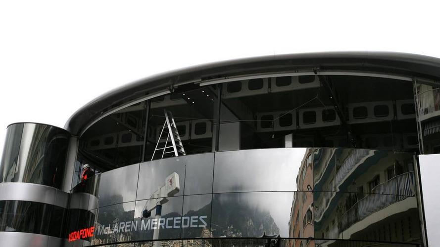 Teams still working on motor homes in Monaco