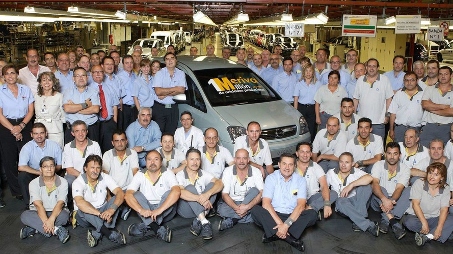One millionth Opel Meriva rolls off the line