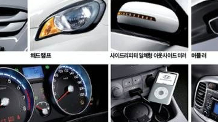 Hyundai Verna / Accent Facelift Revealed in Korea