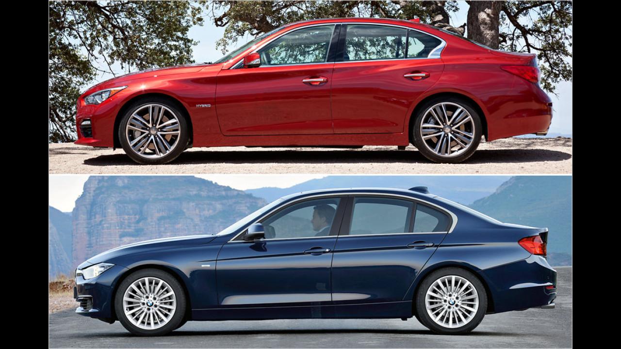 Infiniti Q50 und BMW 3er
