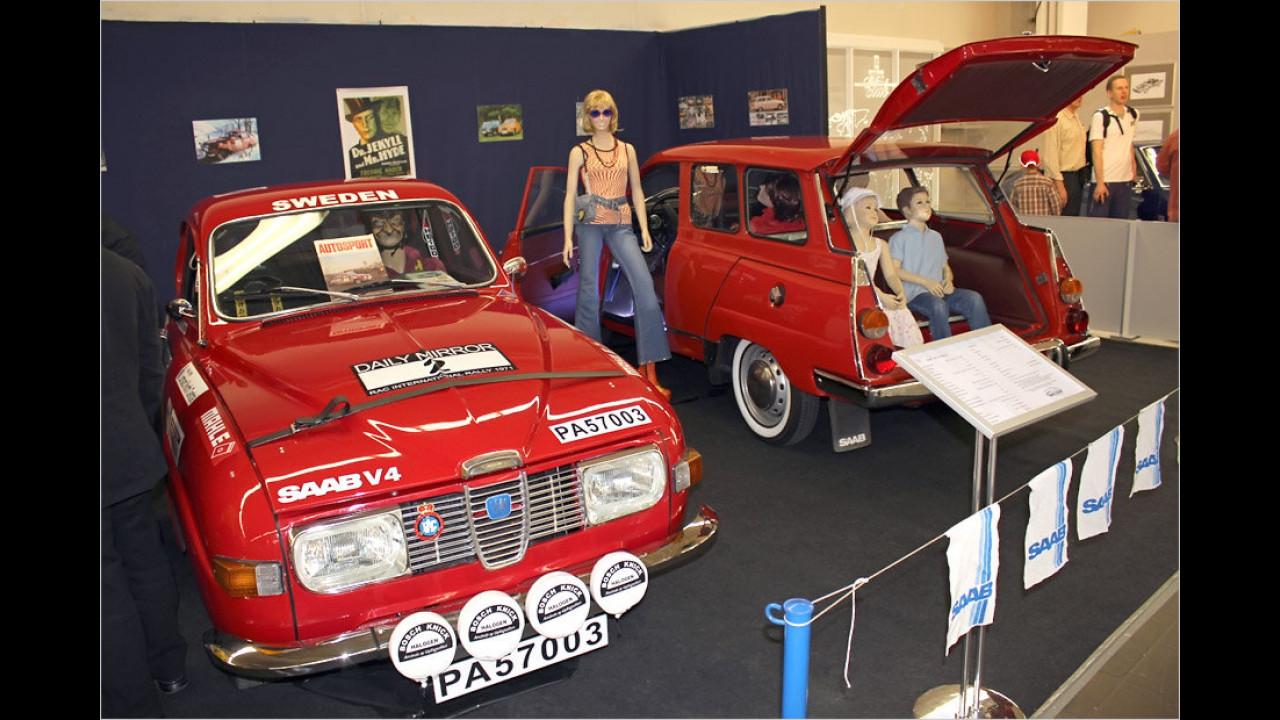 Saab 96 Rallye und 95 Kombi