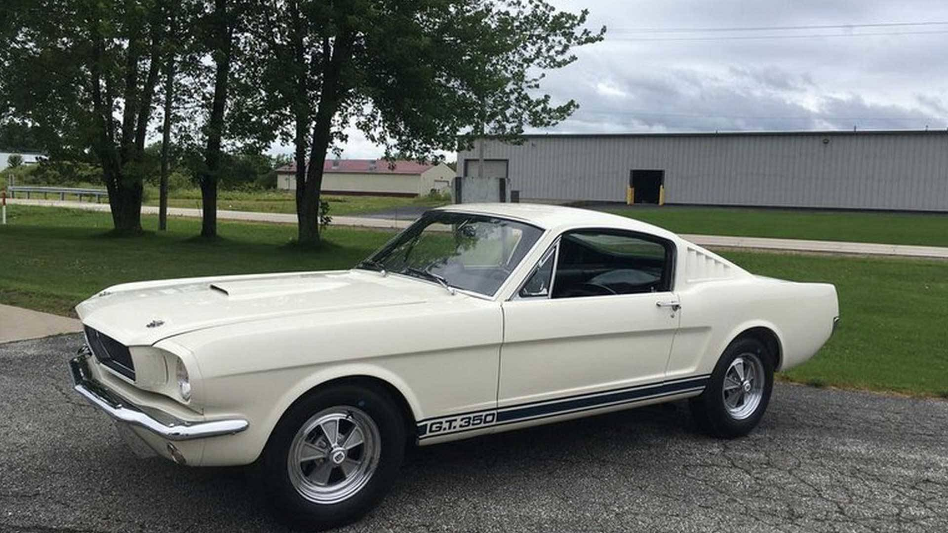 This early shelby gt350 mustang is an original 575k time capsule