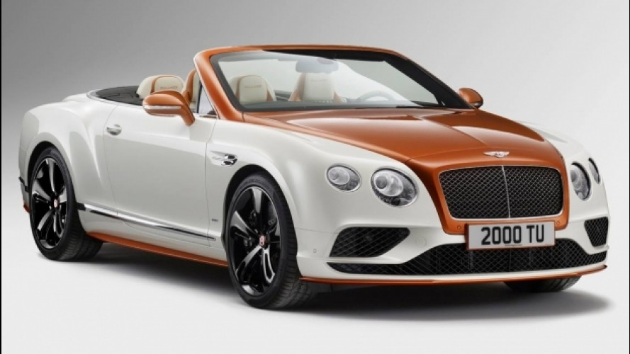 Bentley Continental Orange Flame, unica e bicolore