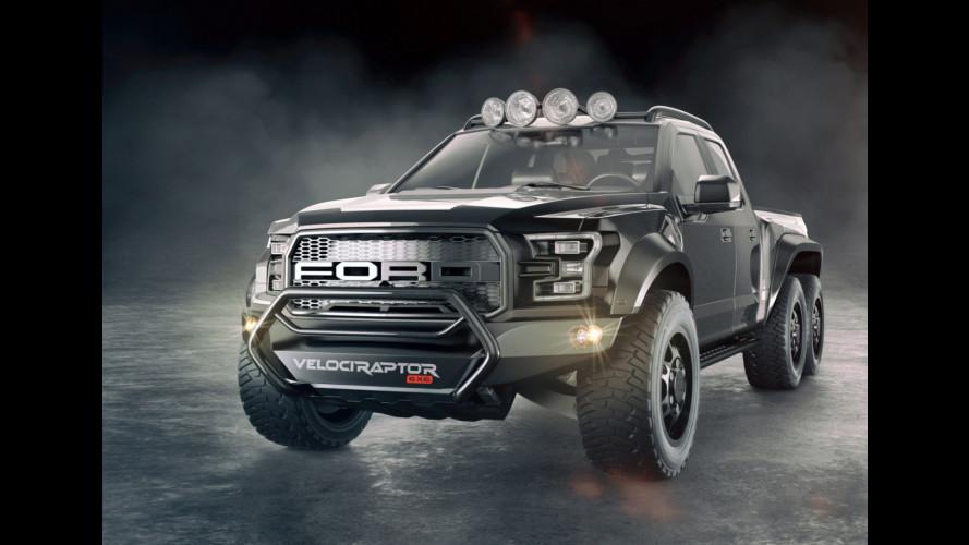 Ford F150 Velociraptor 6x6, più estrema non si può