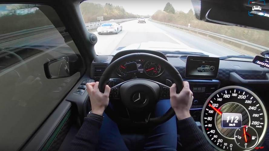 1,000-HP Mercedes-AMG G63 Can't Keep Up With AMG GT R On Autobahn