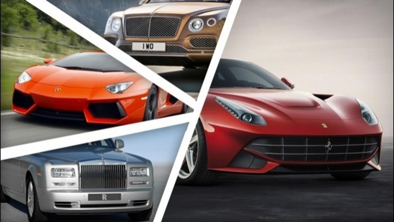 [Copertina] - Ferrari, Lamborghini, Aston Martin... I (super) ricchi non piangono