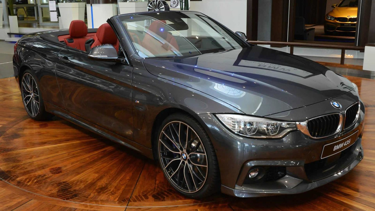Bmw 4 Series Convertible With M And Ac Schnitzer Parts Displayed At Abu Dhabi Dealer