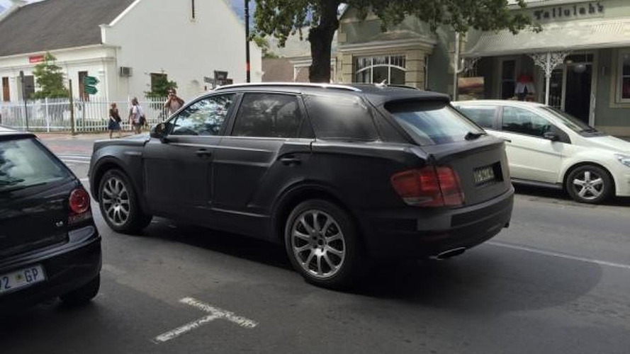 Bentley Bentayga spied in South Africa