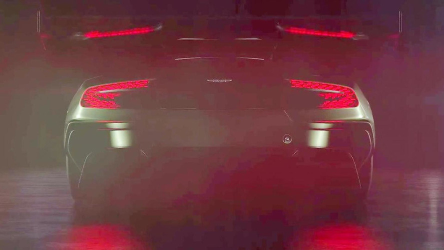 Track-only Aston Martin Vulcan shows its massive rear wing in latest teaser video; sounds brutal
