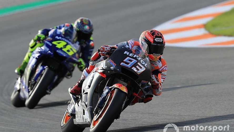 Márquez lidera a mitad de jornada; Lorenzo sigue progresando