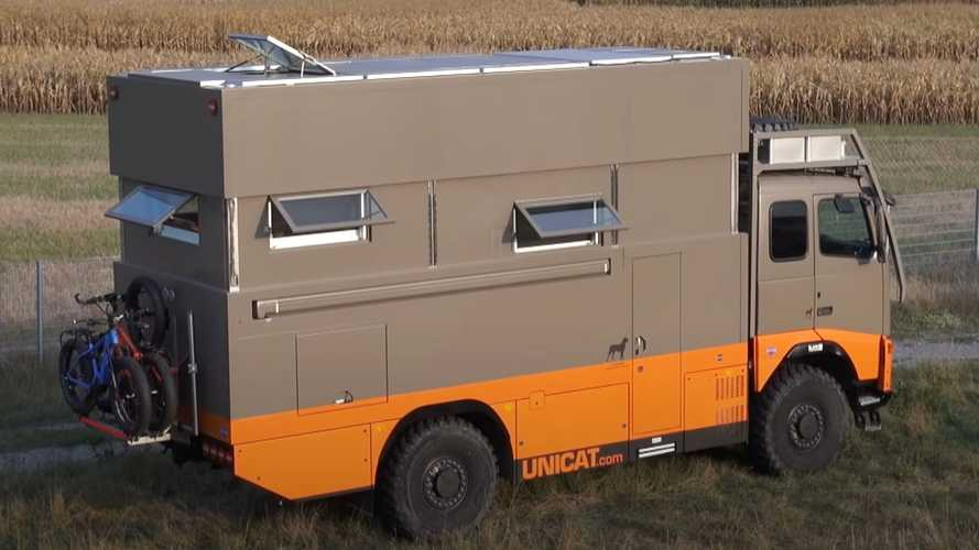 Unicat's latest motorhome is a nifty loft that can 'crab walk'