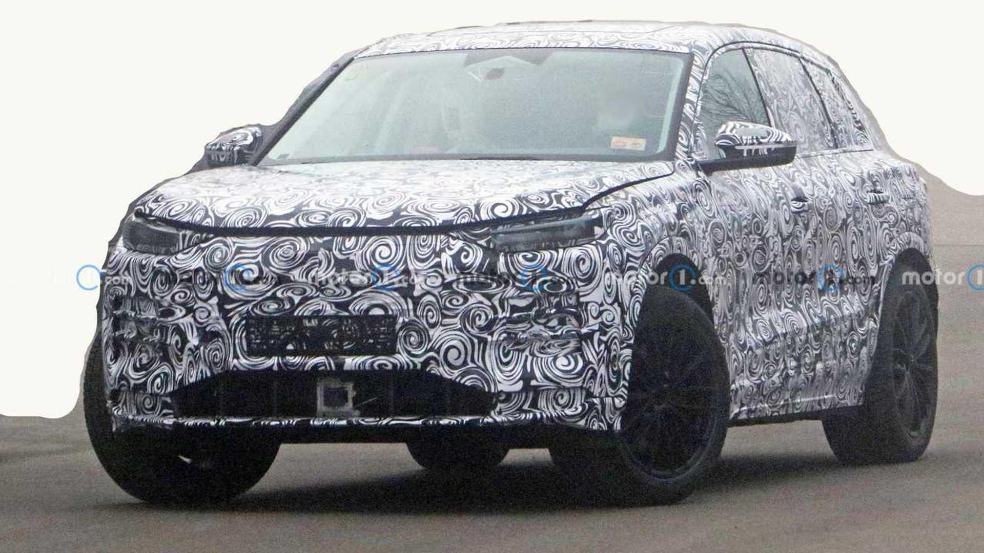 Photo espion de l'Audi Q5 E-Tron 2022