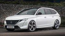Peugeot 308 SW (2021) nach ersten Erlkönigbildern im Rendering