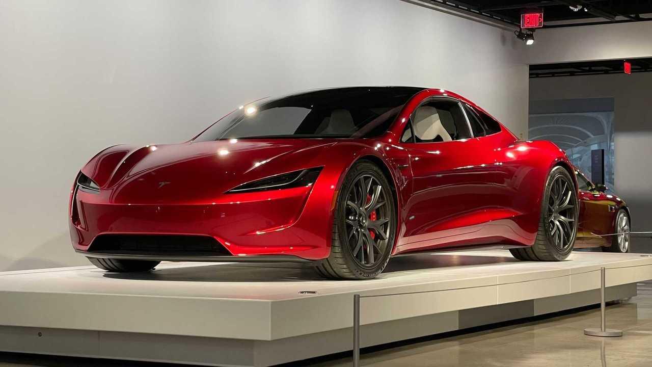 La Tesla Roadster esposta al museo