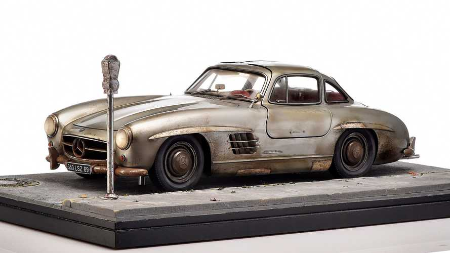 Weathered Mercedes 300 SL Diorama Goes Well With Your Classic Coupe