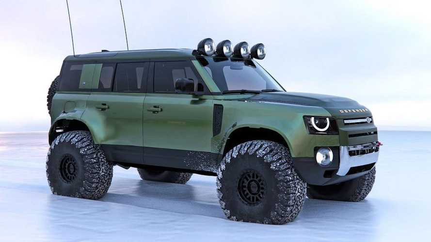 Land Rover Defender Arctic Expedition Renderings
