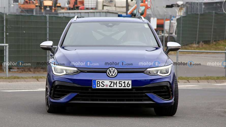 2022 VW Golf R Variant spied at the Nurburgring