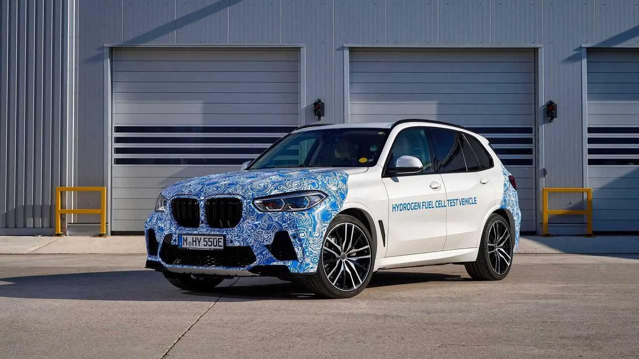 BMW X5 tesztelés hidrogénteljesítménnyel
