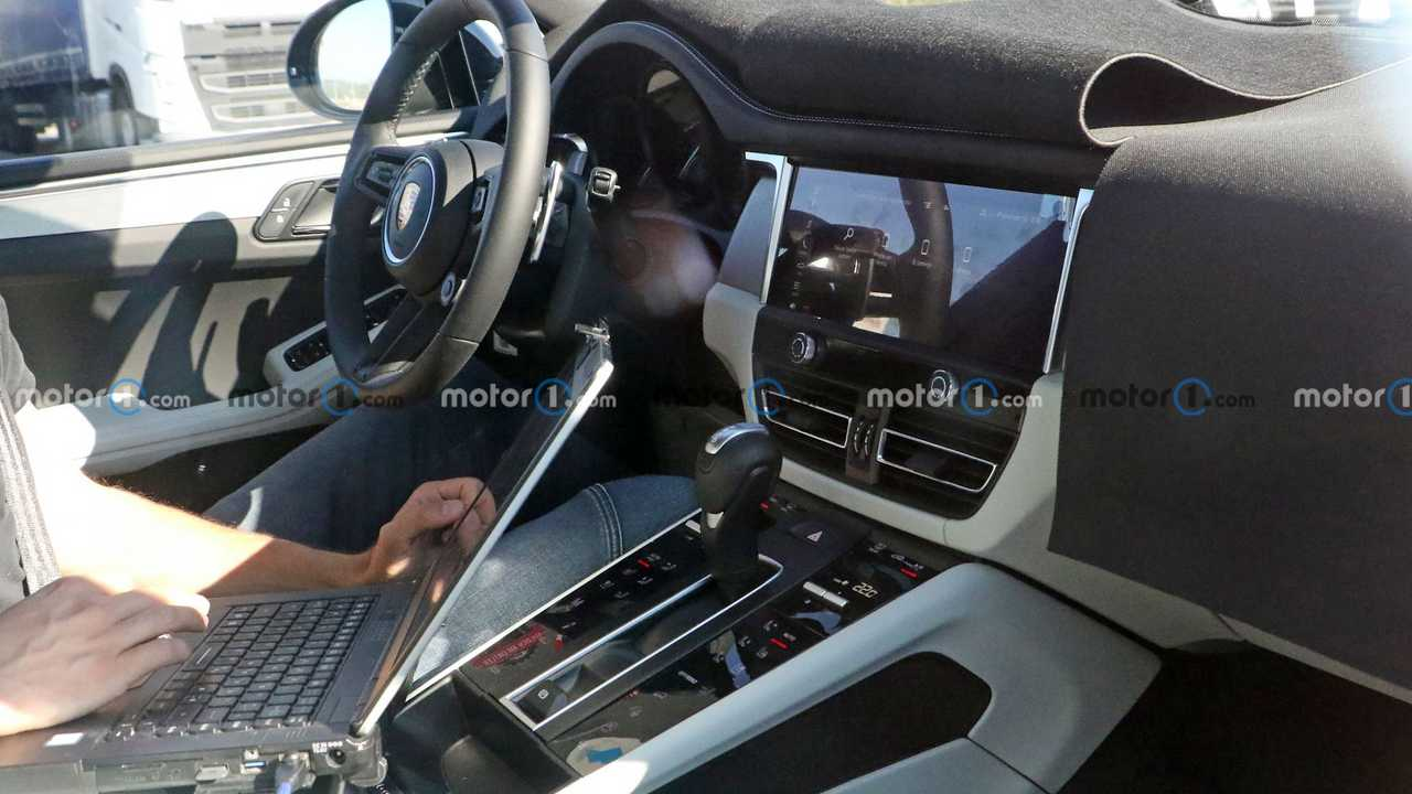 New Porsche Macan spy photos show off tweaked interior design.