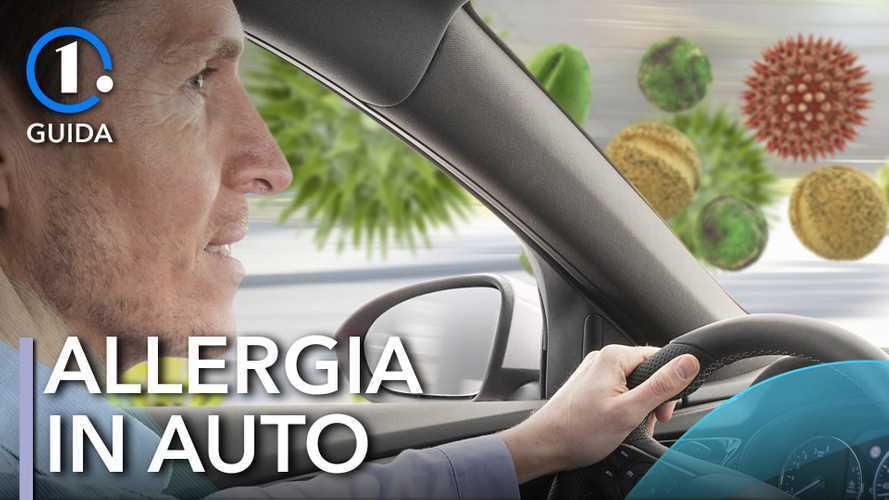 Primavera, i rischi in auto per chi soffre di allergia