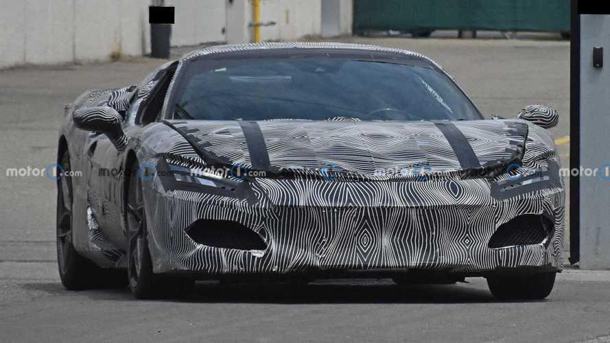 Ferrari V6 hybrid prototype with production body spy photos