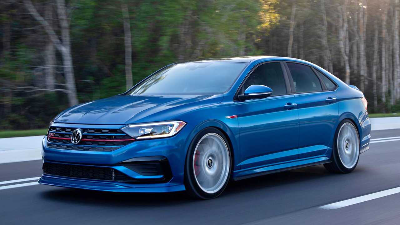 This one-off concept Jetta GLI is called Blue Lagoon, a tribute to the Mk4 GLI with a similar color.