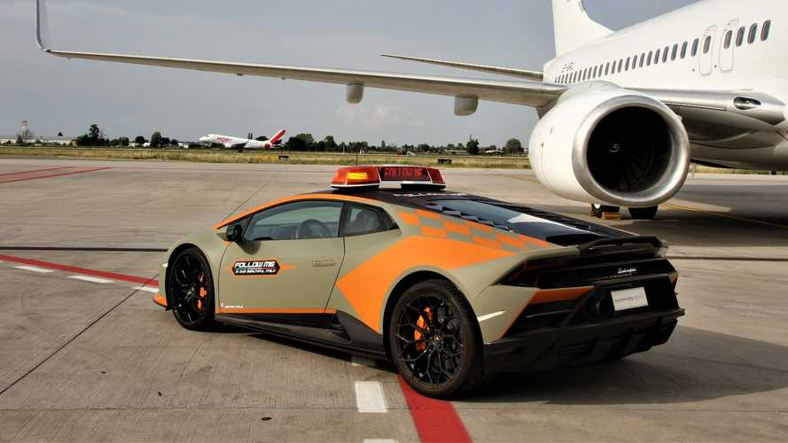 Lamborghini Huracán Evo als Follow-Me-Car