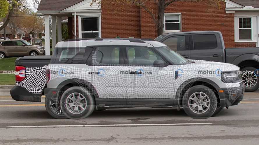 Ford Maverick Compared To Bronco Sport Spy Shots