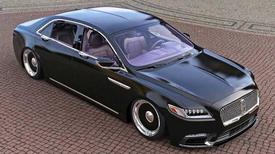 Lincoln Continental als Mafia-Auto mit lila Sitzen im Rendering