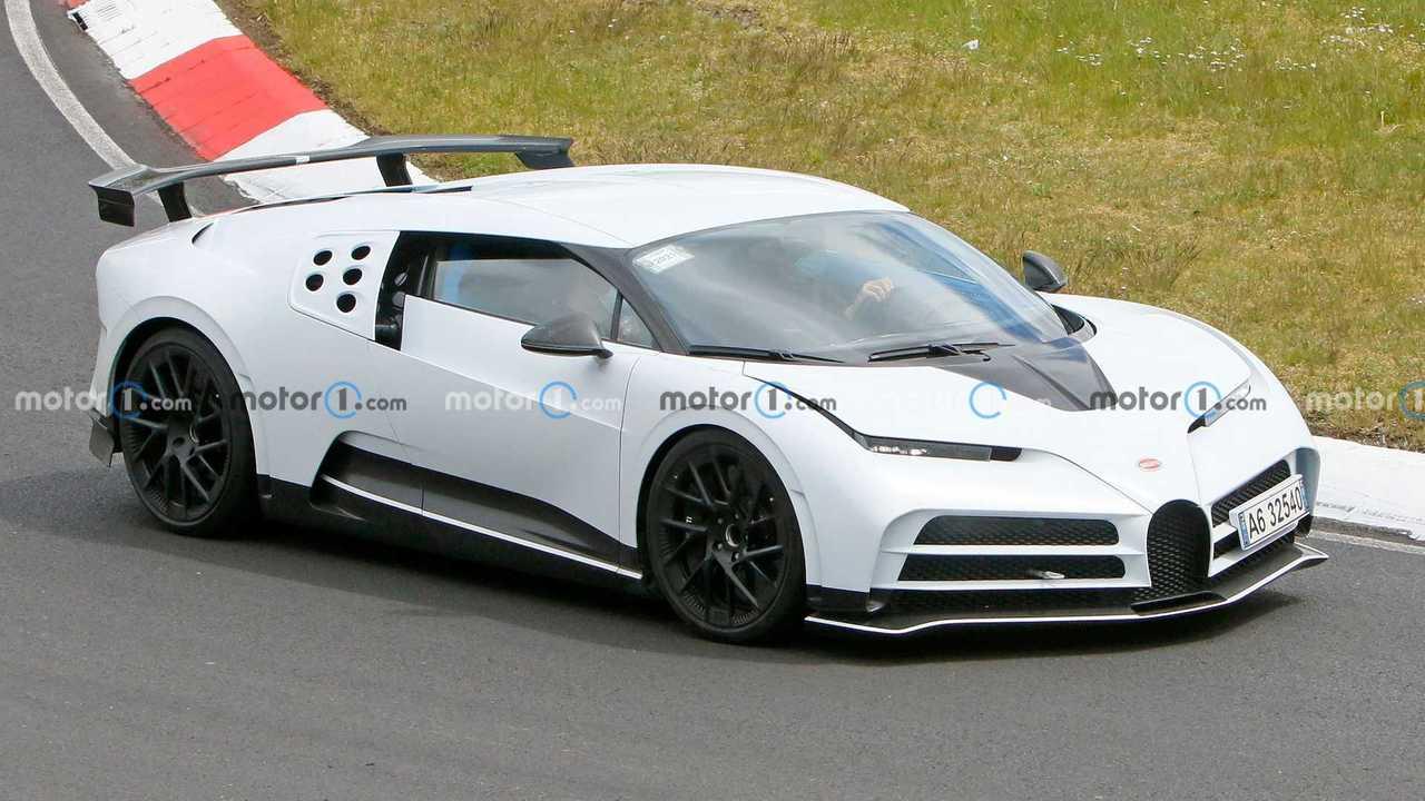 Bugatti Centodieci spy photos.