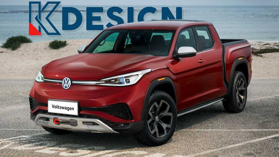 Volkswagen Electric Pickup Truck Takes Shape In Unofficial Renderings