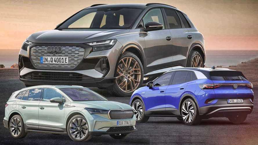 Audi Q4 e-tron, Skoda Enyaq iV und VW ID.4 im ersten Vergleich