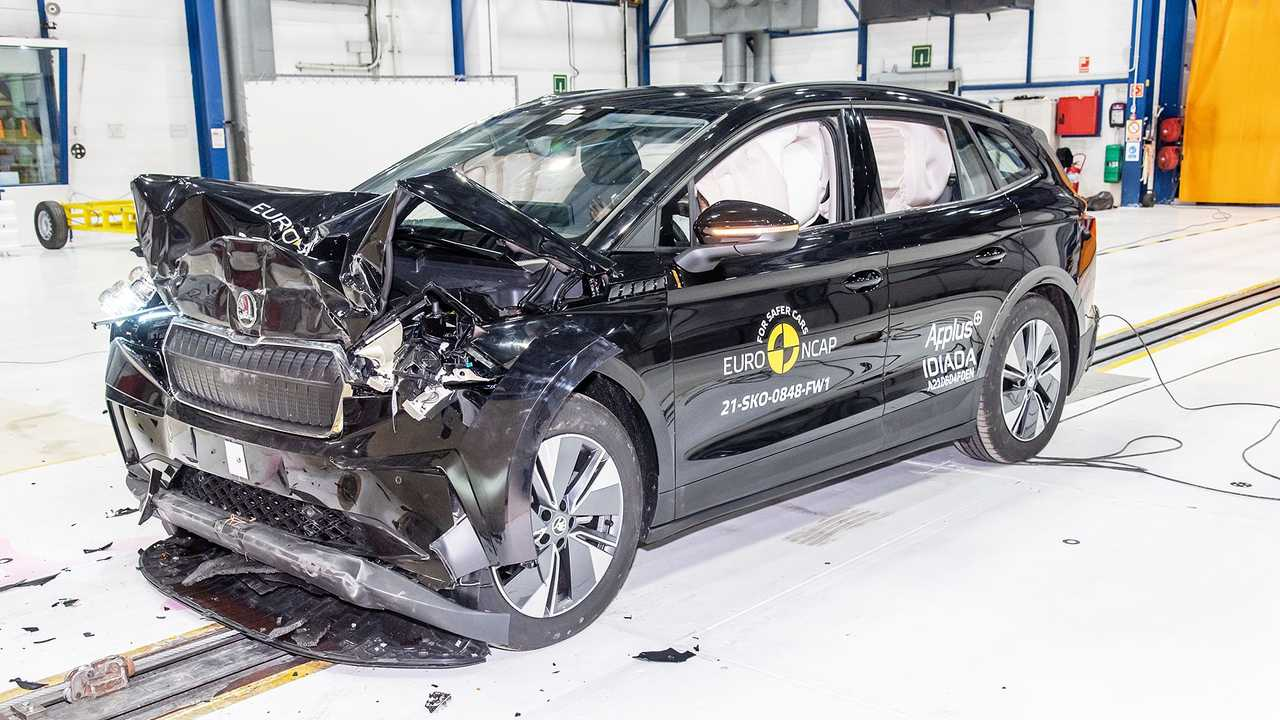 Der Skoda Enyaq erhielt im EuroNCAP-Crashtest volle fünf Sterne