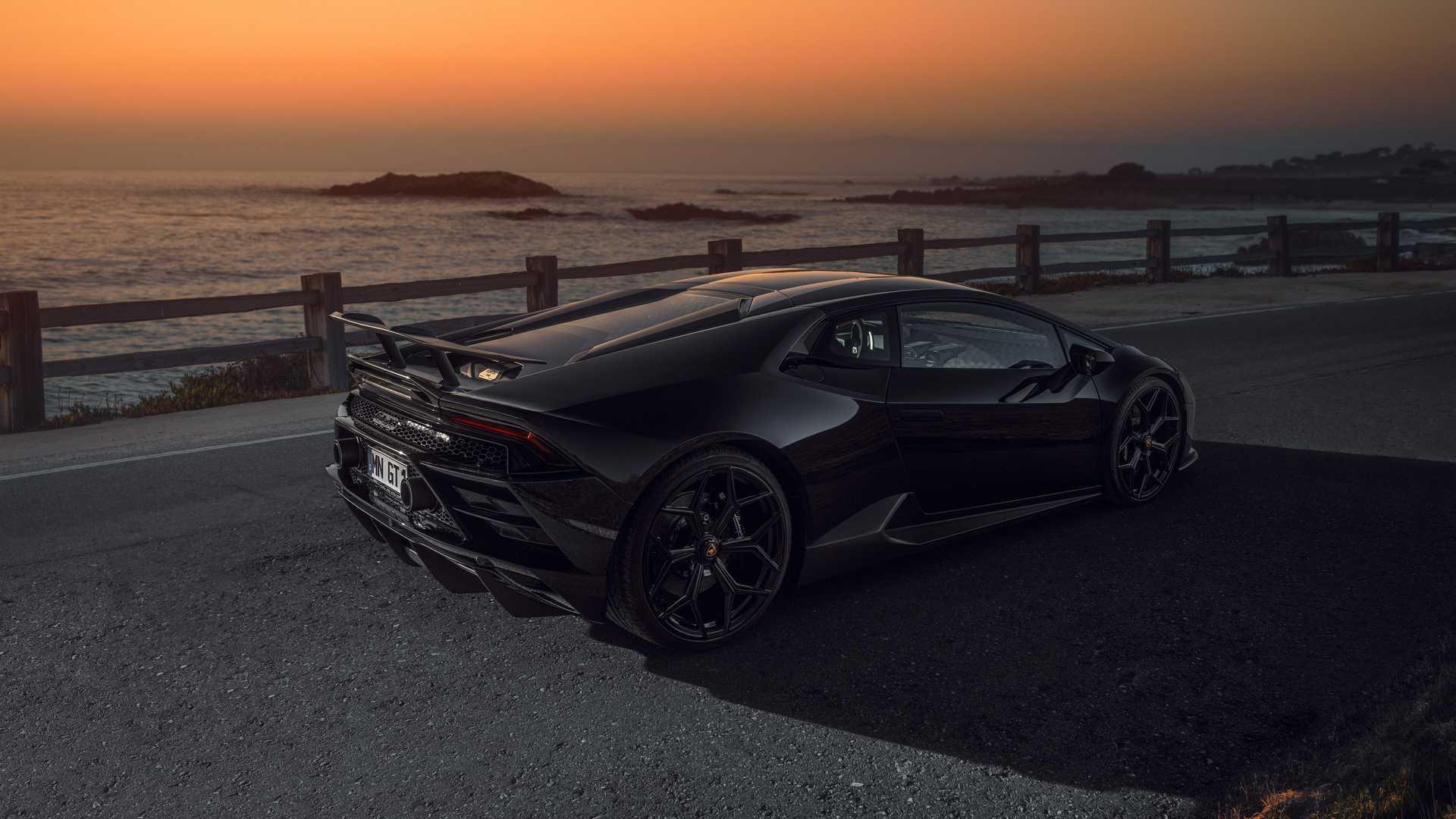 Lamborghini Huracan Evo By Novitec Rear Corner View