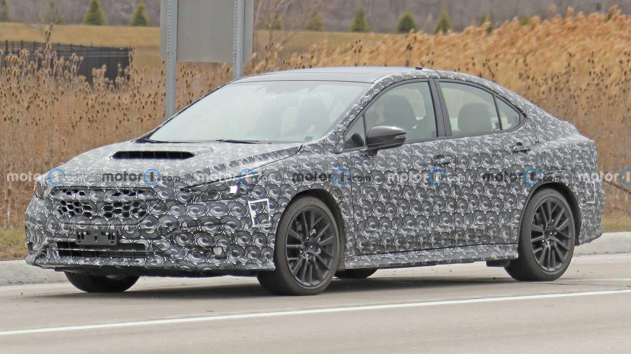 Next-Gen Subaru WRX Spy Shots Front Corner