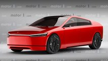 Tesla Model S Cybertruck render