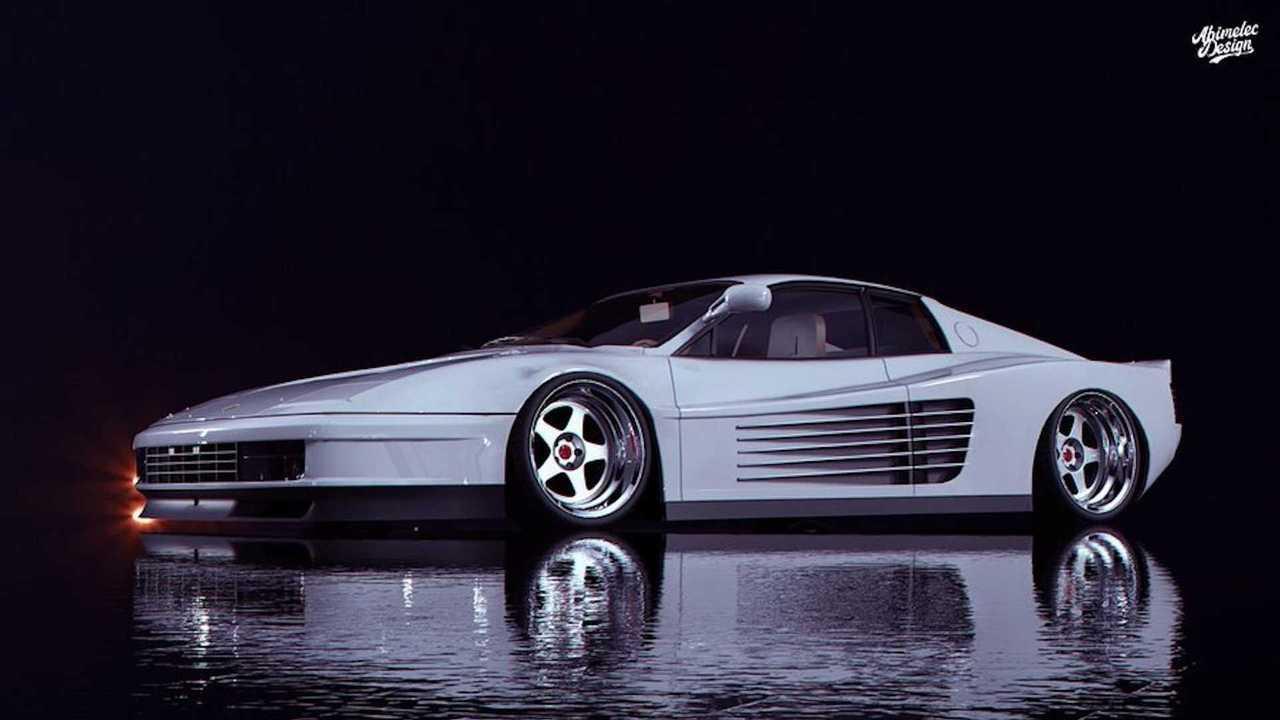 Modernized Ferrari Testarossa