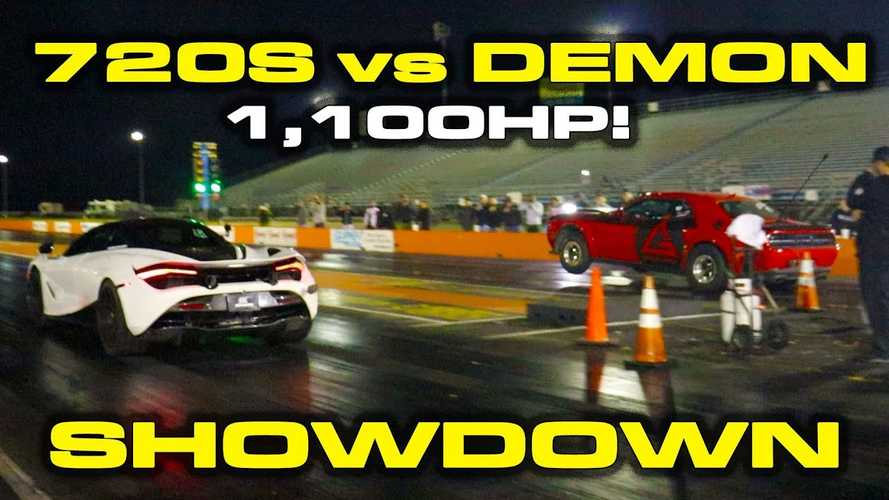McLaren 720S duels Dodge Demon in nearly 2,000-bhp drag race
