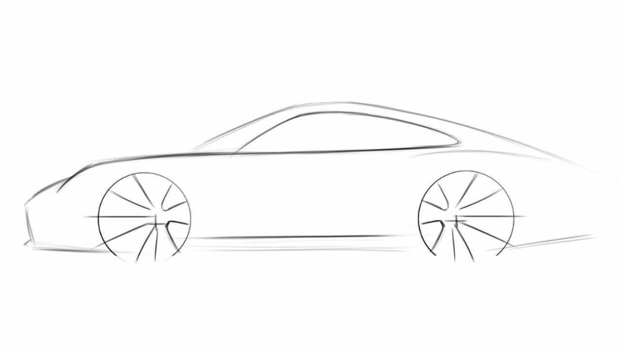 How To Draw A Porsche 911 - Step 2