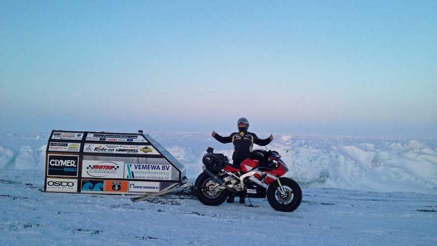 This Guy Is Riding His Yamaha R1 To The North Pole