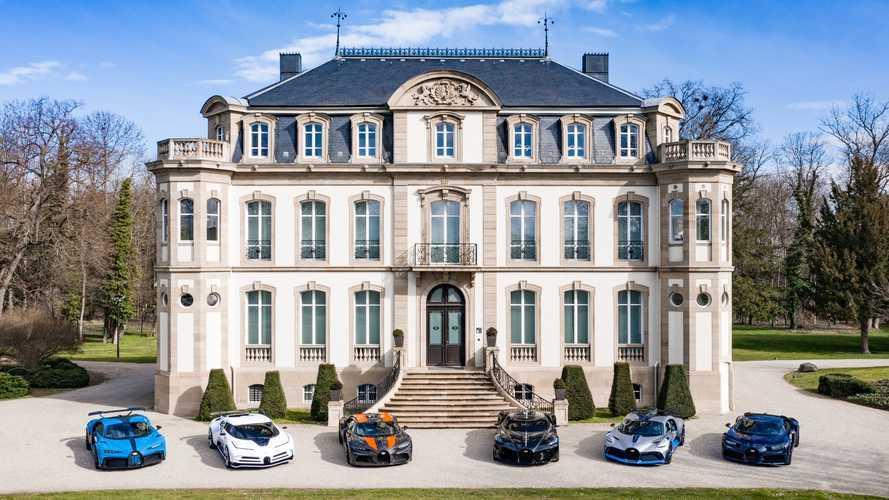 Bugatti shows six cars worth a combined £37 million