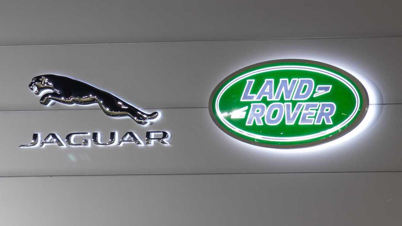 Jaguar Land Rover logos on dealership in Oakville Canada