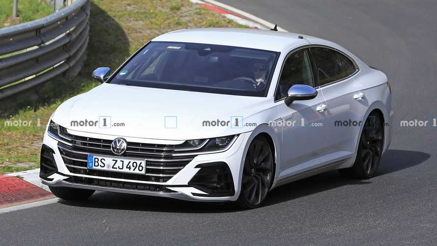 Volkswagen Arteon R spied working out at the Nürburgring