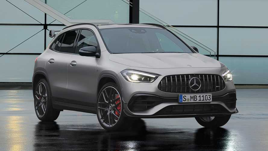 Go-faster versions of the new Mercedes GLA start at £43,565